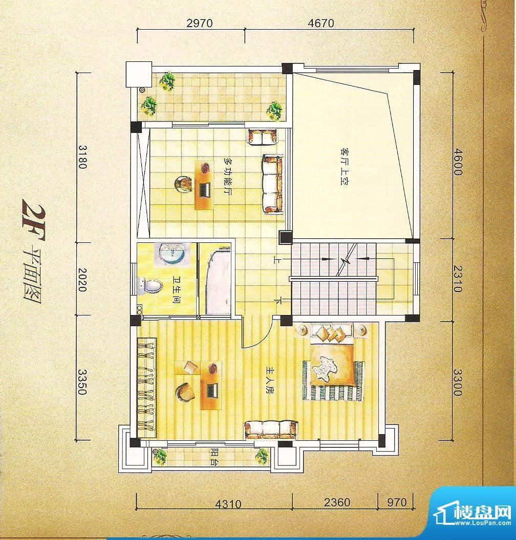 灏昌园A户型2F 4室2面积:190.00m平米