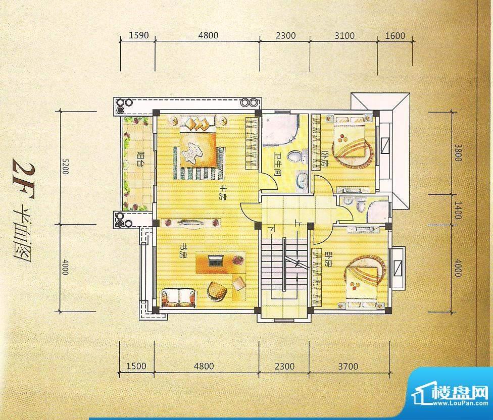 灏昌园C户型2F 5室2面积:270.00m平米