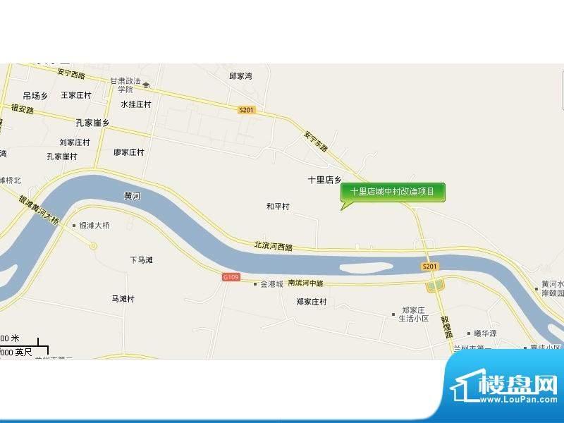 十里店城中村改造项目交通图