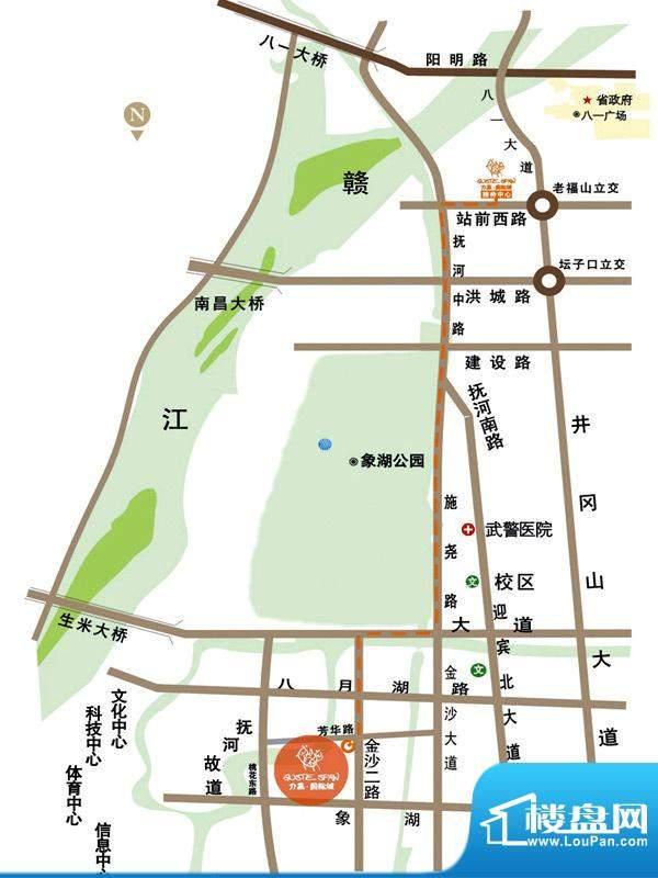 力高国际城交通图