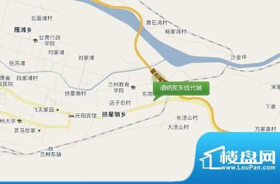 酒钢聚东现代城交通图