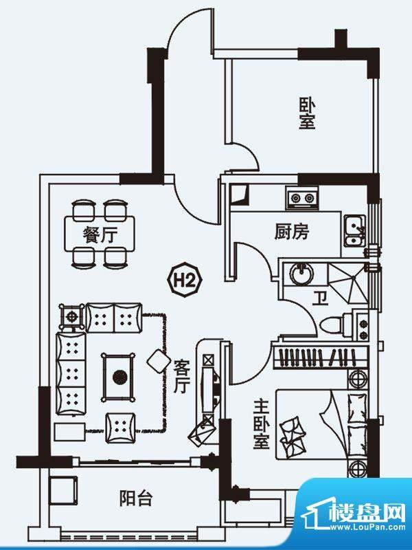 力高国际城户型图四期高层10#楼面积:67.00平米