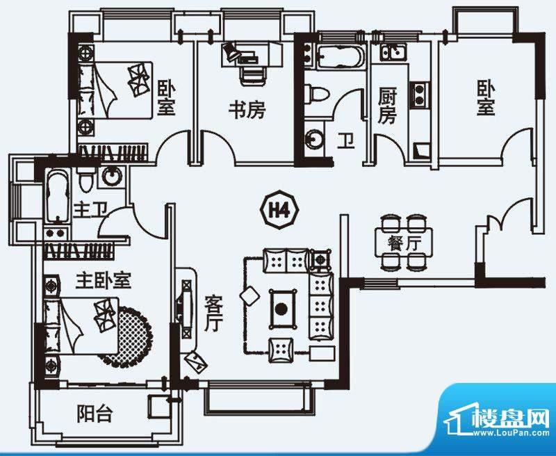 力高国际城户型图四期高层10#楼面积:115.13平米