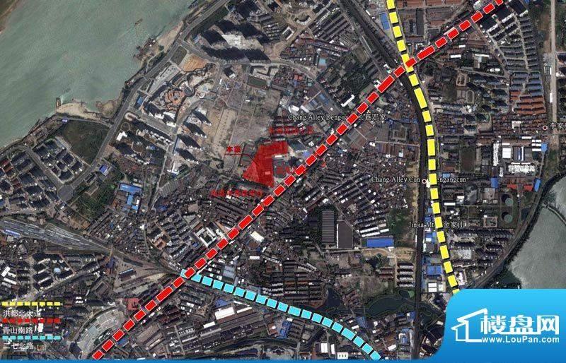 国金印象交通图区位图