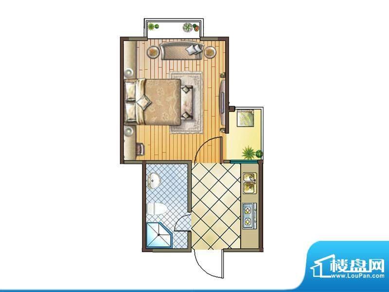 国金印象户型图二期 6#楼标准层面积:35.00平米