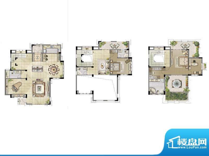 中央香榭双拼别墅户型图面积:280.00平米