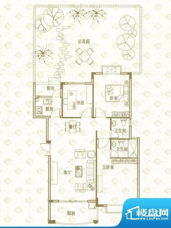 国金印象户型图一期1、2#楼标准面积:100.00平米