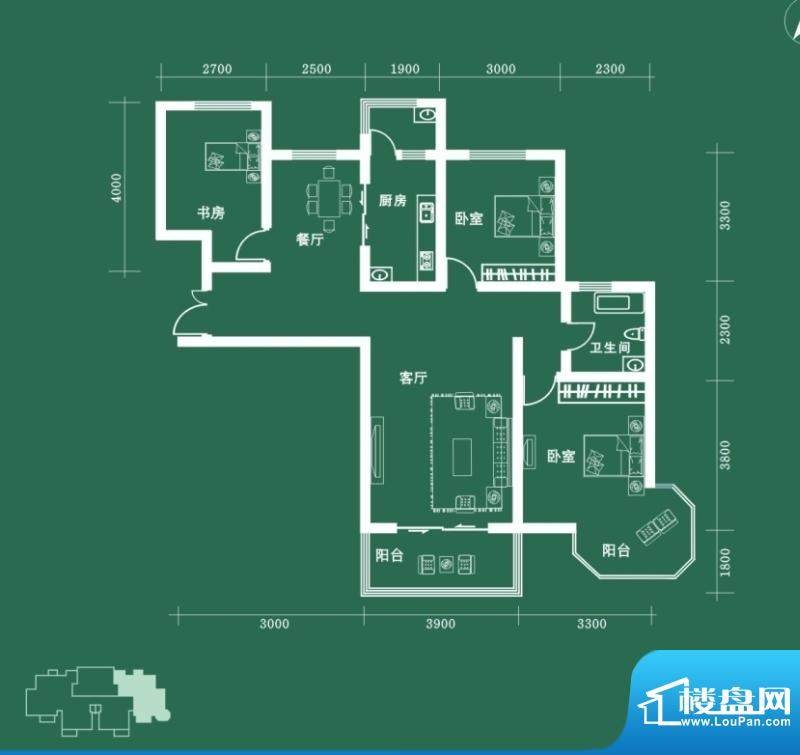 西固人家户型图B4户型 3室2厅2面积:123.68平米