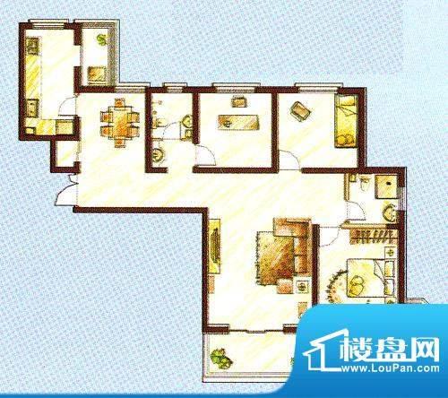 西固人家户型图1号楼A4户型3面积:138.19平米
