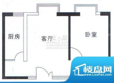 亚太嘉园户型图二期户型 49.68面积:49.68平米