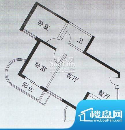 亚太嘉园户型图二期户型 92.96面积:92.96平米