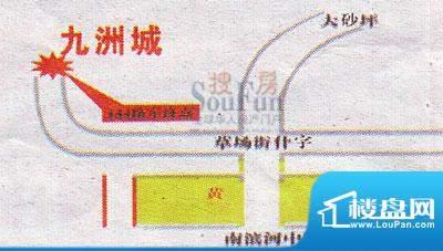 九洲城交通图
