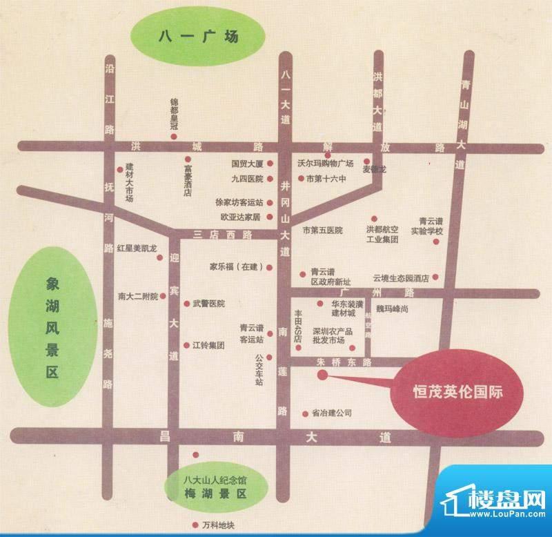 恒茂英伦国际交通图