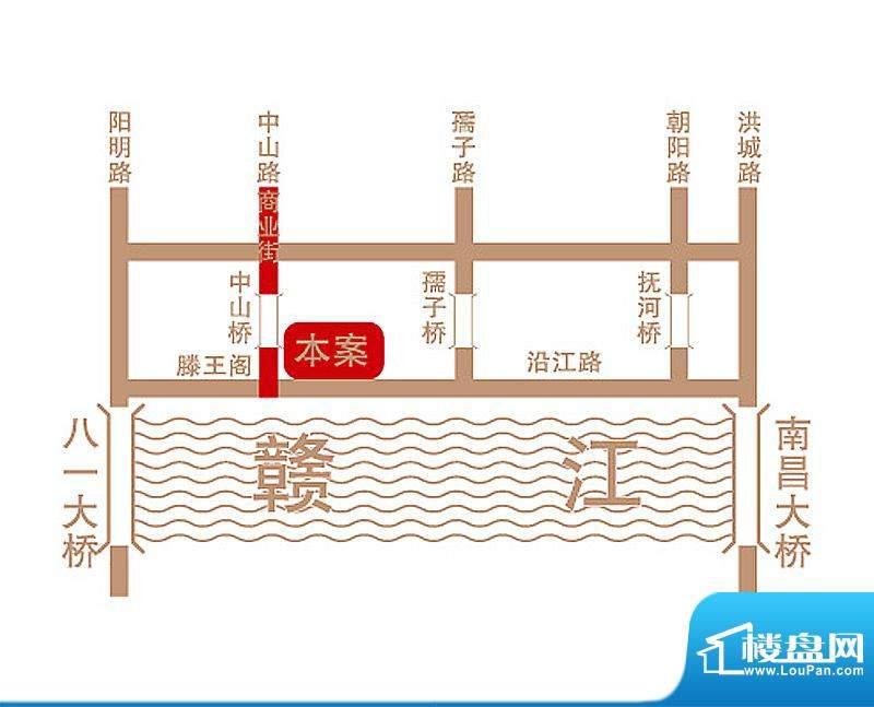 滨江一号交通图