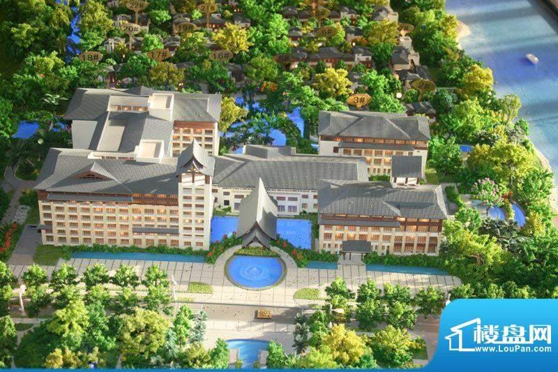 天沐君湖效果图酒店沙盘规划