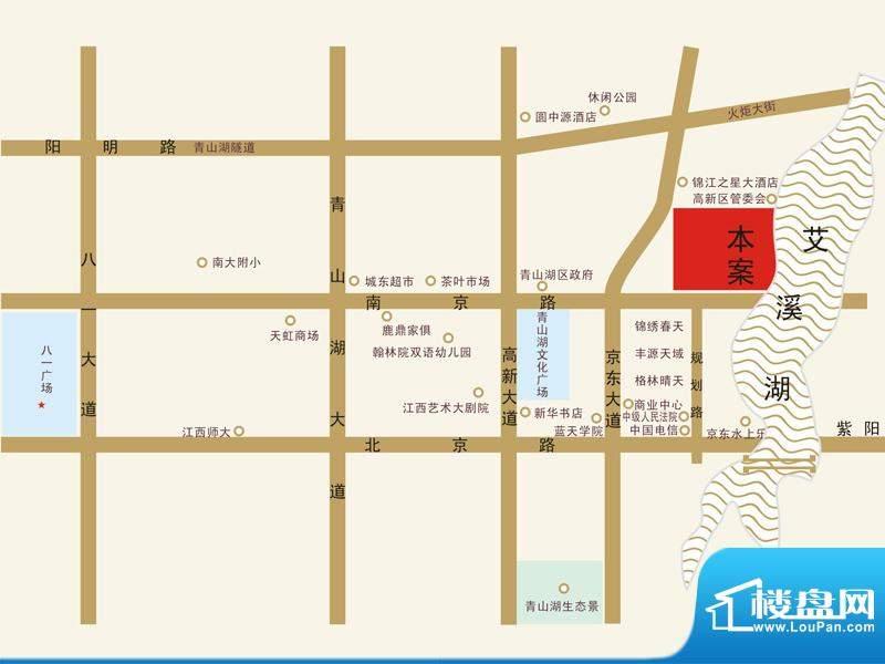 凯美艾溪湖交通图