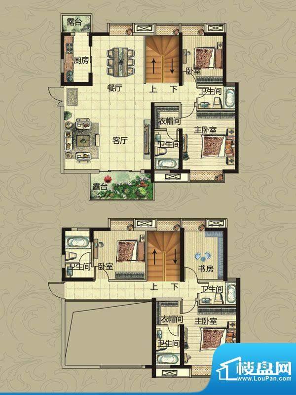 南昌华南城户型图一期2#-12#楼面积:224.00平米