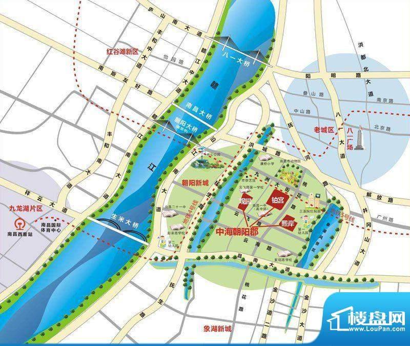 中海朝阳郡交通图