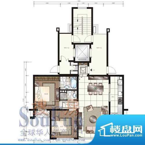 颐和星苑户型图H户型 2室2厅1卫面积:150.00平米