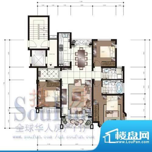 颐和星苑户型图F户型 2室2厅1卫面积:150.00平米
