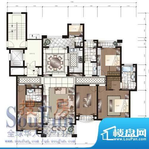 颐和星苑户型图A户型 3室2厅3卫面积:195.00平米