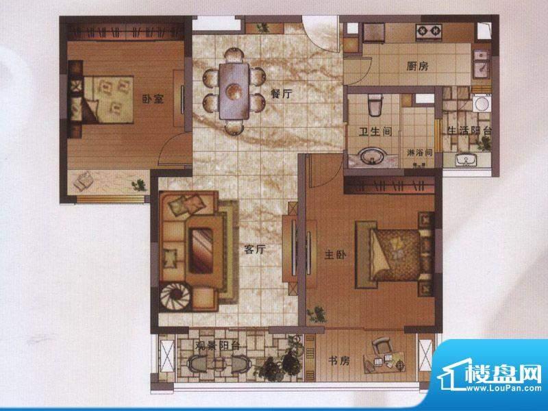 绿地新都会户型图阔景高层11#楼面积:101.00平米