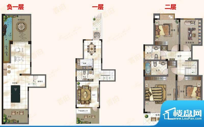 绿地新都会户型图电梯花院洋墅面积:143.21平米