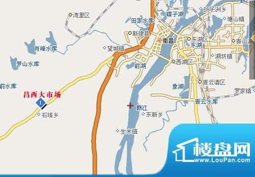 九龙湖商贸城交通图