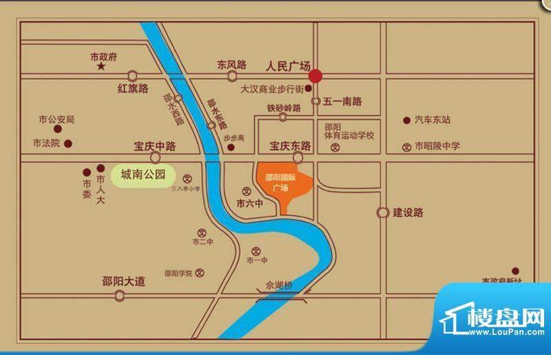 邵阳友阿国际商业广场交通图