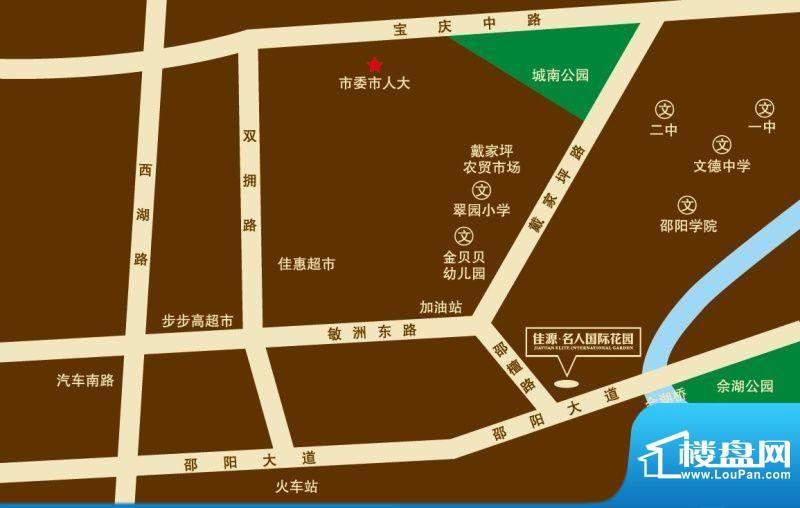 佳源 名人国际花园交通图