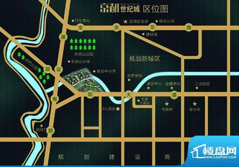 京都世纪城交通图