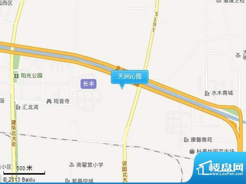 天洲沁园交通图