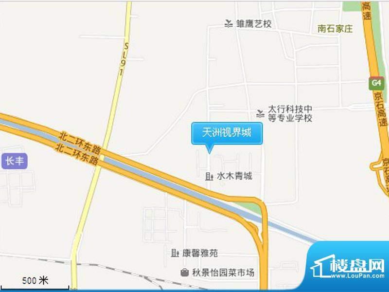 天洲视界城二期交通图