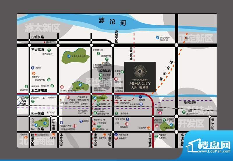 天洲视界城交通图区位图
