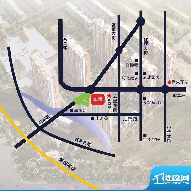 七金苑交通图方位图