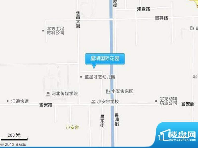 星湖国际花园交通图