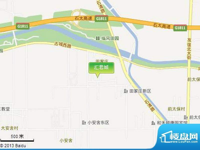 汇君城交通图