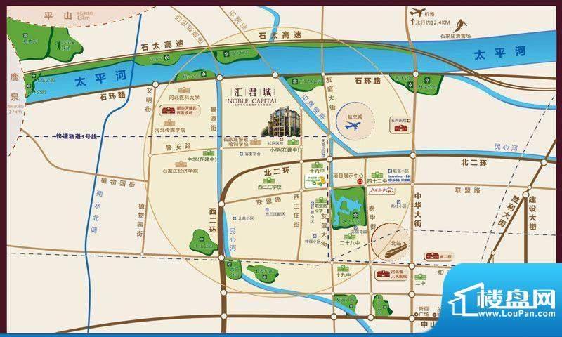 汇君城交通图区域图