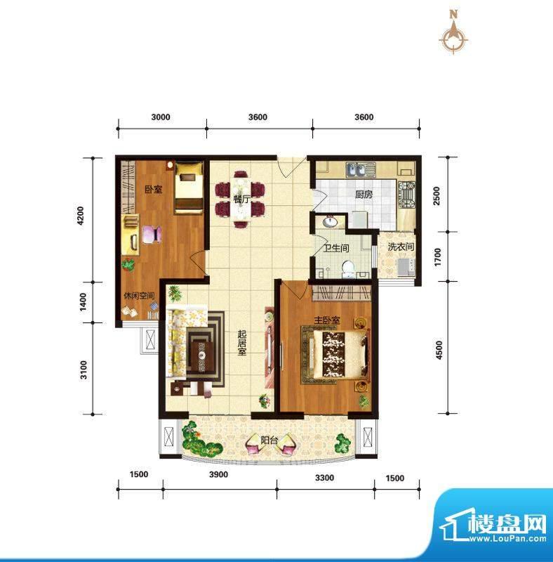 华林国际户型图C2阳光倾城户型面积:108.49平米