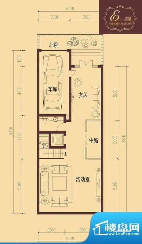 香醍溪岸户型图E户型地下一层 面积:89.62平米