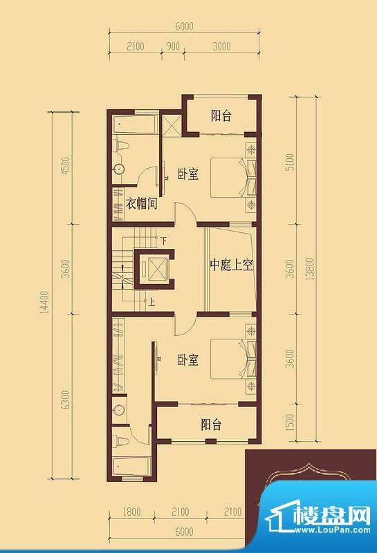 香醍溪岸户型图E户型首层 2厅1面积:81.19平米