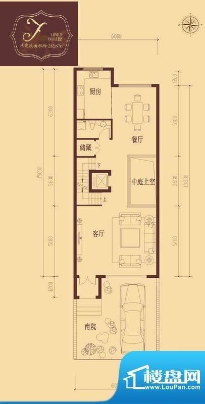 香醍溪岸户型图F户型首层 2厅1面积:82.06平米