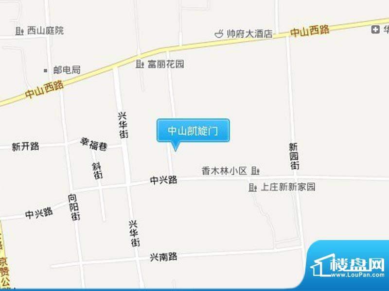中山凯旋门交通图