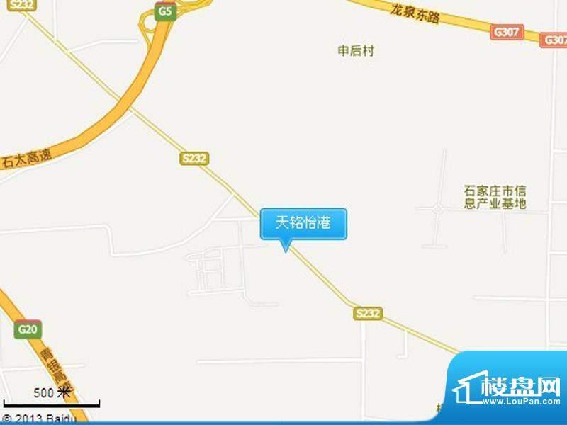 天铭怡港交通图