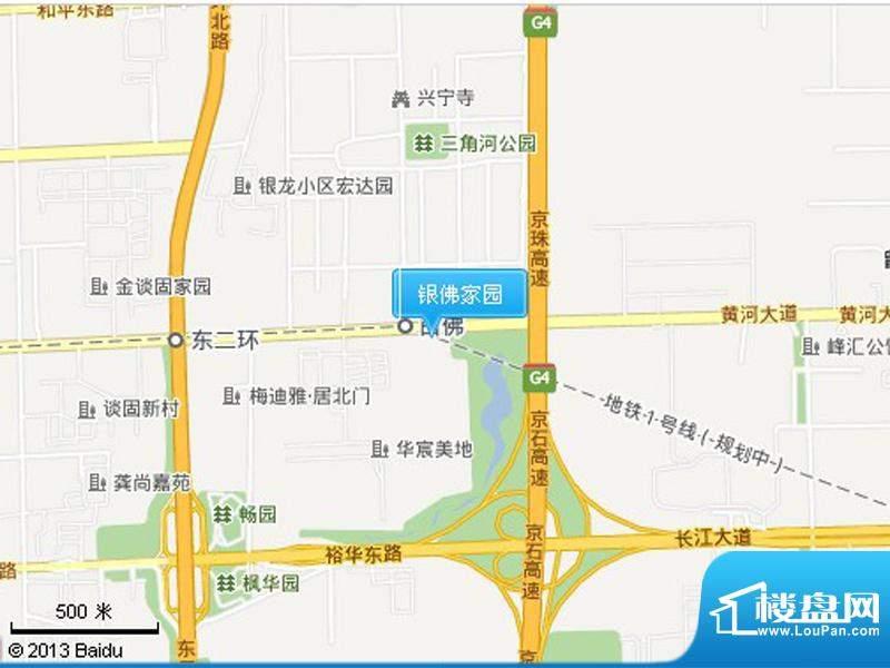银佛家园交通图