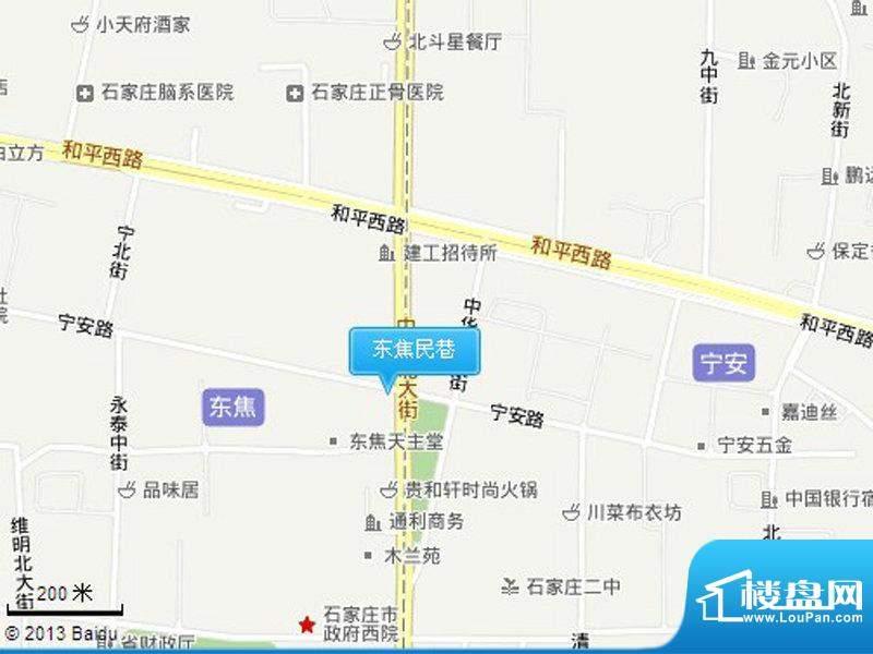 东焦民巷交通图