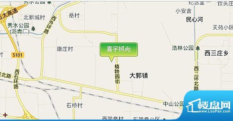 嘉宇枫尚交通图区位图