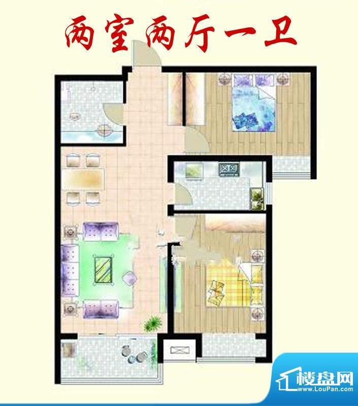 嘉宇枫尚户型图户型图 2室2厅1面积:90.00平米
