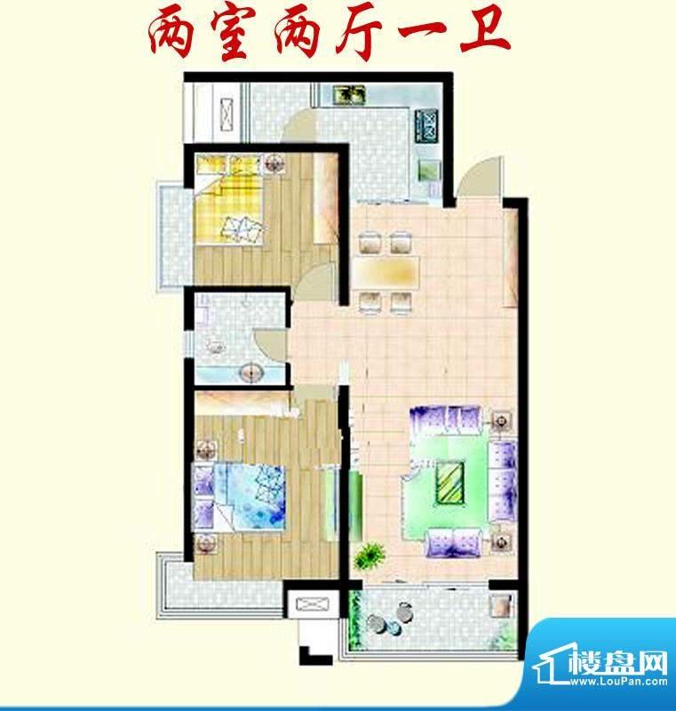 嘉宇枫尚户型图户型图 2室2厅1面积:86.00平米
