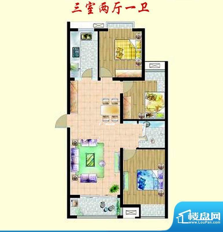 嘉宇枫尚户型图户型图 3室3厅1面积:138.00平米